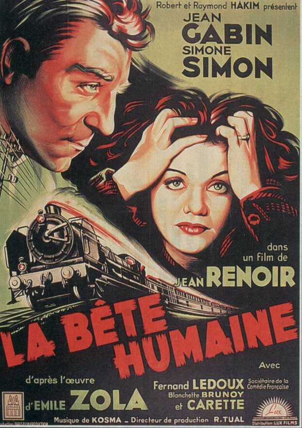 "poster for ""B�te humaine, La"" by Jean Renoir(1938)"