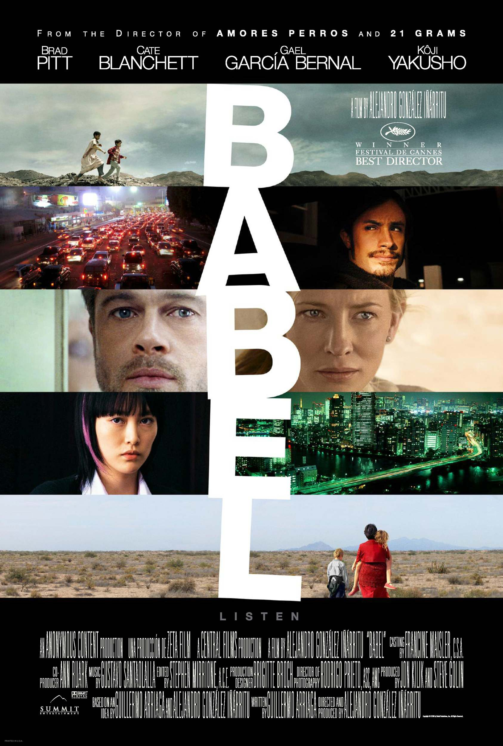 "poster for ""Babel"" by Alejandro Gonz�lez I��rritu(2006)"
