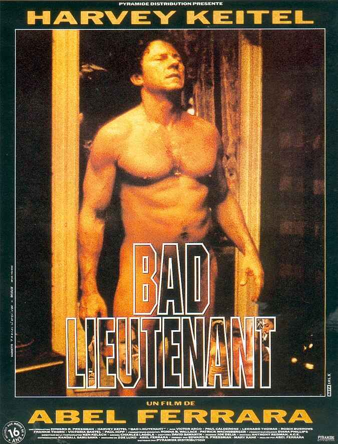"poster for ""Bad Lieutenant"" by Abel Ferrara(1992)"