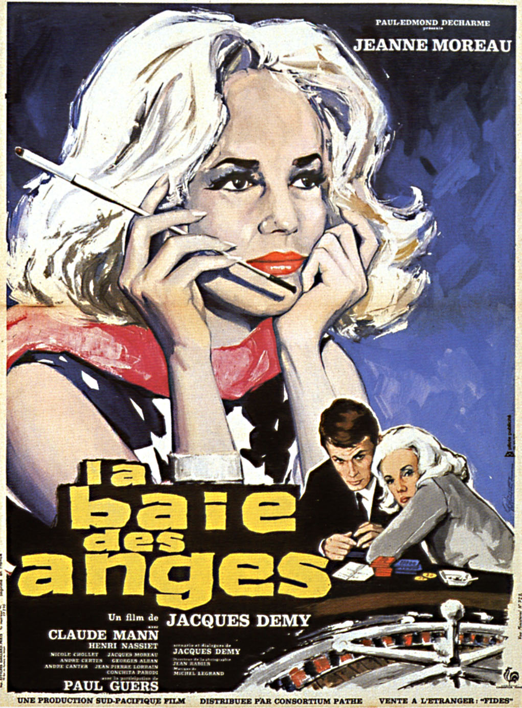 "poster for ""Baie des anges, La"" by Jacques Demy(1963)"