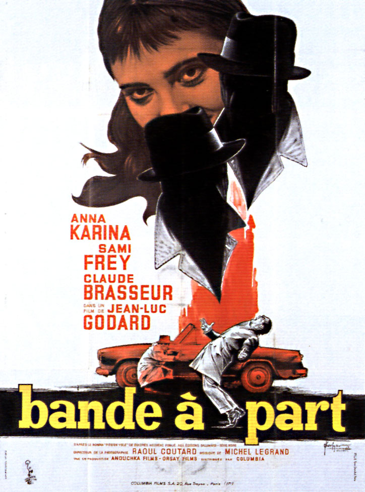 "poster for ""Bande � part"" by Jean-Luc Godard(1964)"