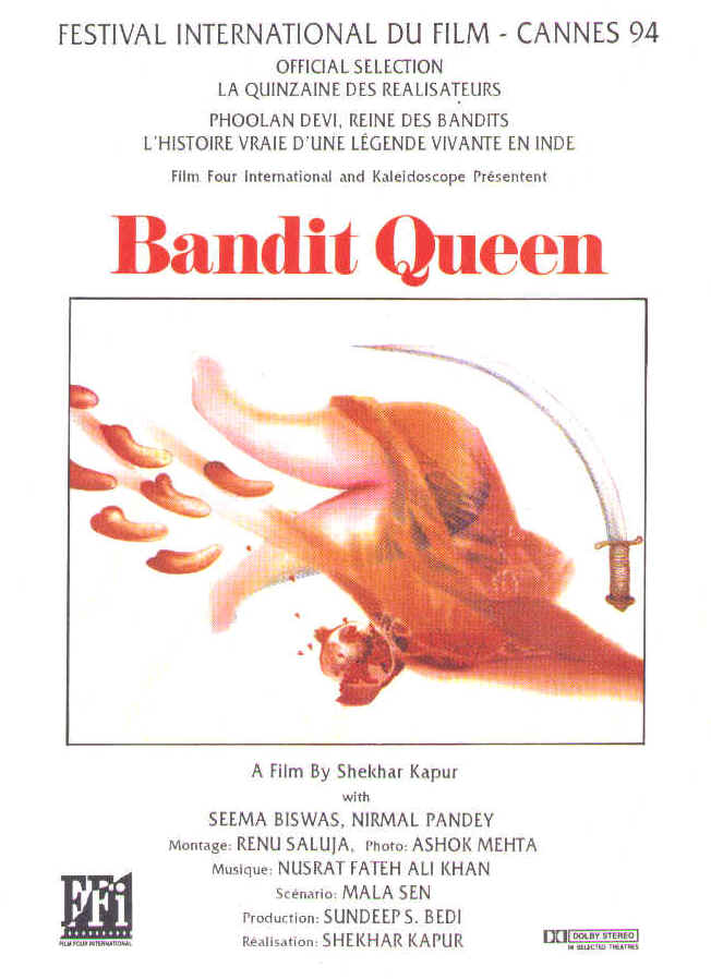 "poster for ""Bandit Queen"" by Shekhar Kapur(1994)"