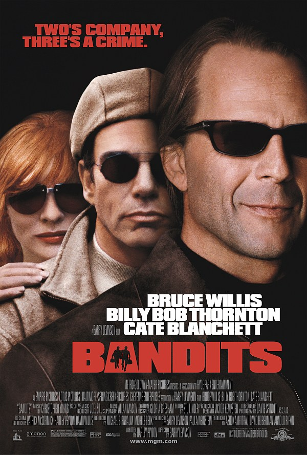 "poster for ""Bandits"" by Barry Levinson(2001)"