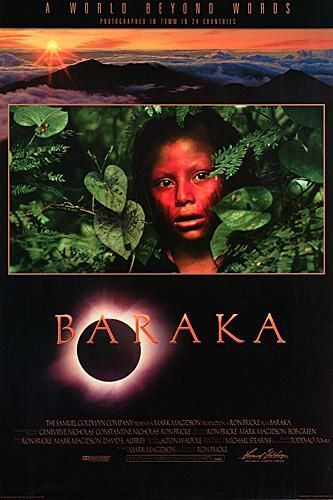"poster for ""Baraka"" by Ron Fricke(1992)"