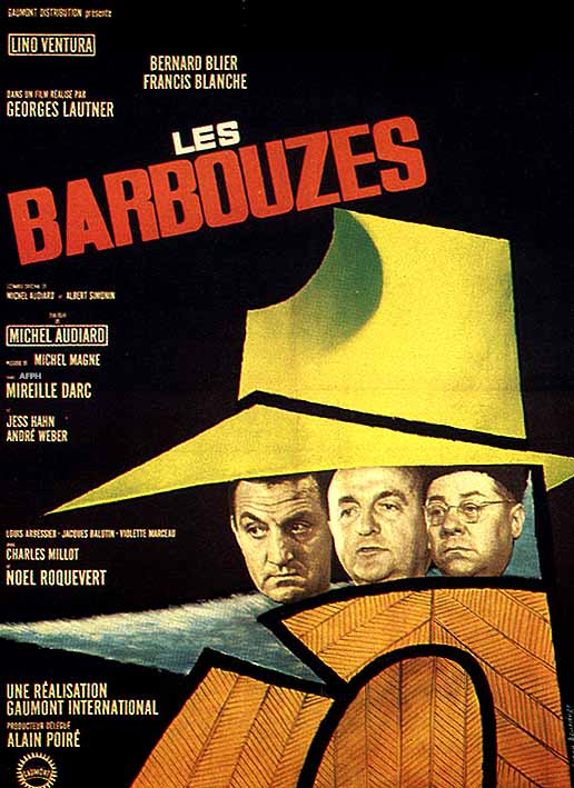"poster for ""Barbouzes, Les"" by Georges Lautner(1964)"