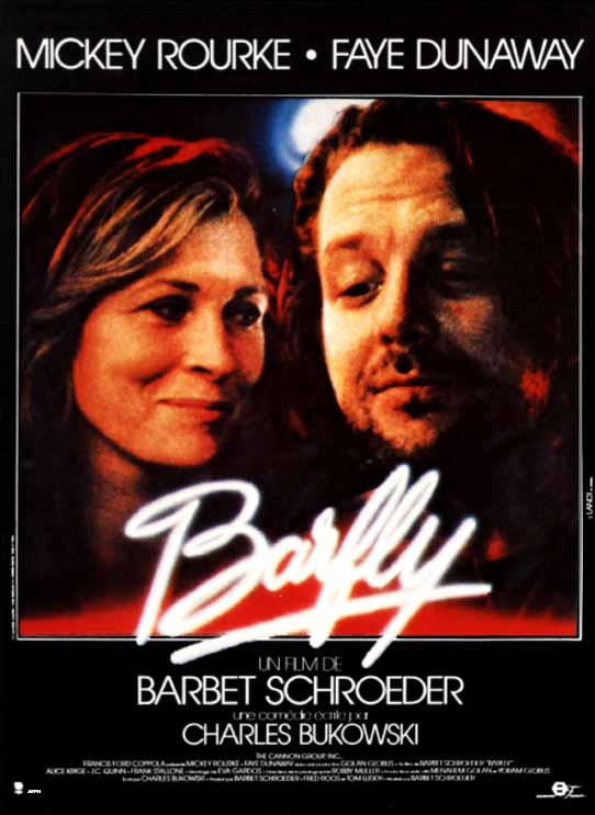 "poster for ""Barfly"" by Barbet Schroeder(1987)"