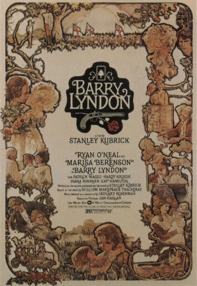 "poster for ""Barry Lyndon"" by Stanley Kubrick(1975)"
