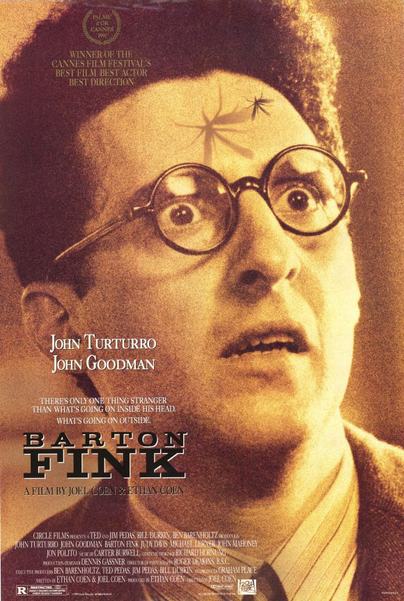"poster for ""Barton Fink"" by Joel Coen 