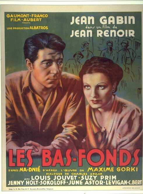 "poster for ""Bas-Fonds, Les"" by Jean Renoir(1936)"