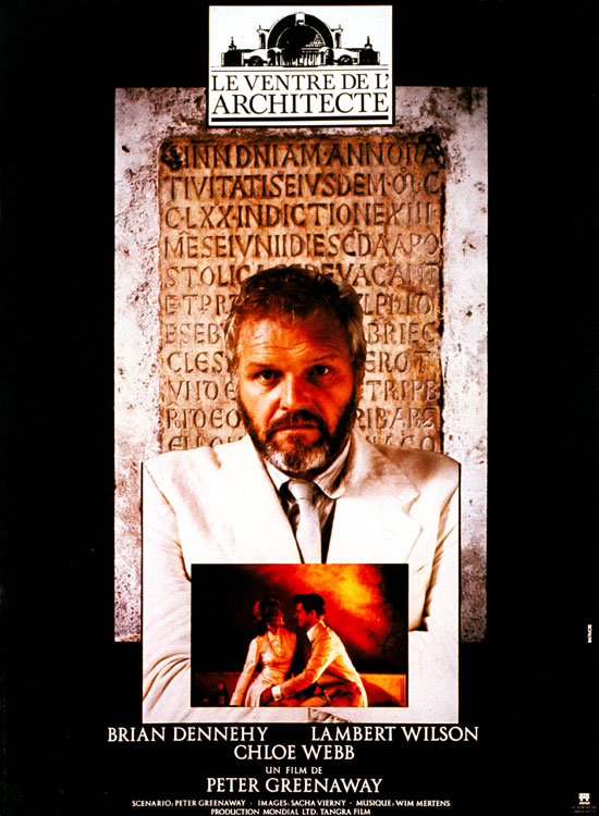 "poster for ""Belly of an Architect, The"" by Peter Greenaway(1987)"