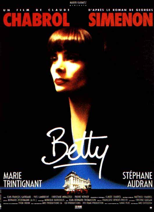 "poster for ""Betty"" by Claude Chabrol(1992)"