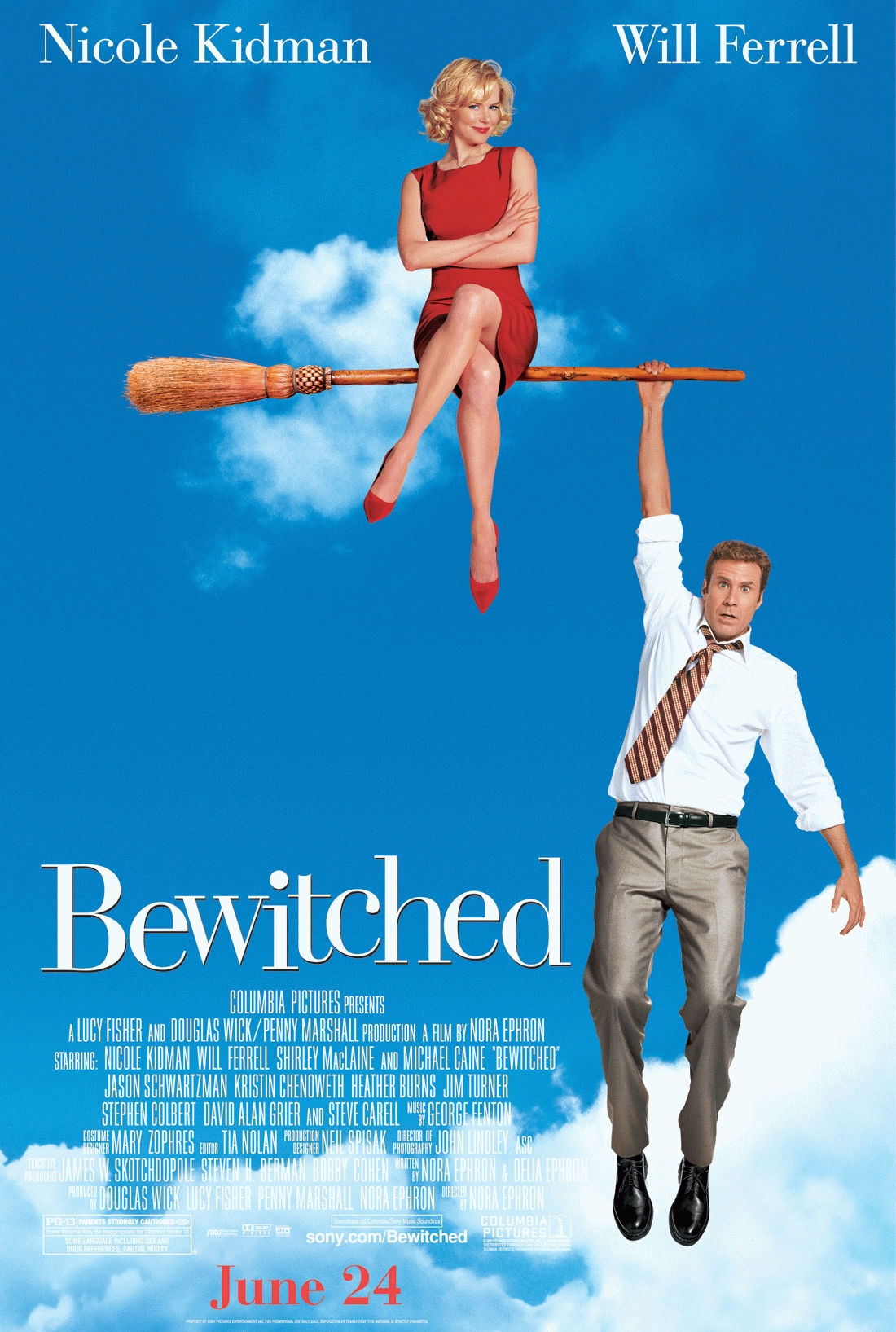 "poster for ""Bewitched"" by Nora Ephron(2005)"
