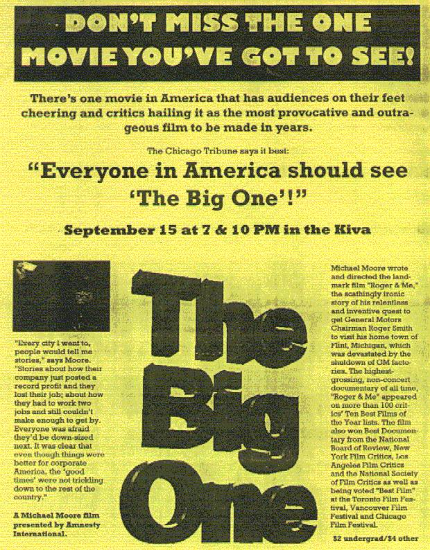 poster for Big One,