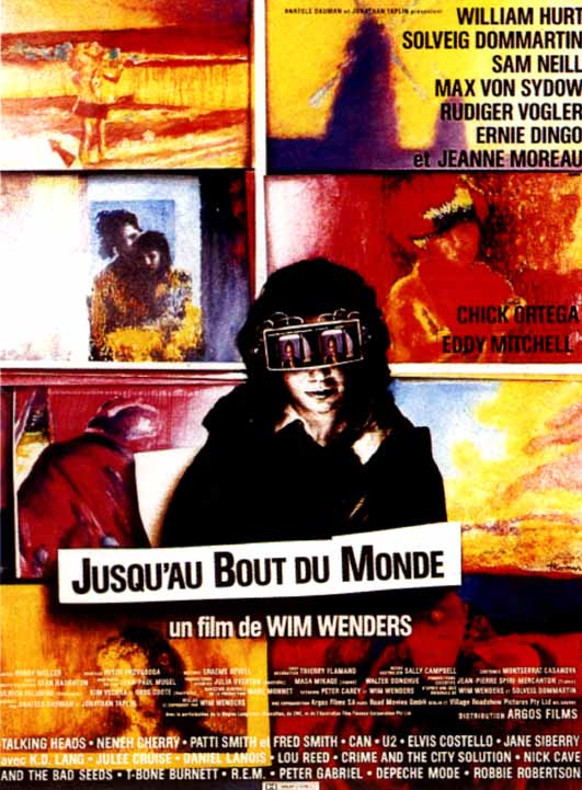 "poster for ""Bis ans Ende Der Welt (Until the End of the World)"" by Wim Wenders(1991)"