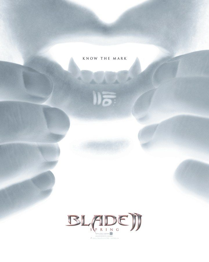 "poster for ""Blade 2"" by Guillermo del Toro (2002)"