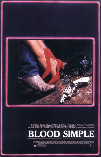 "poster for ""Blood Simple"" by Joel Coen 
