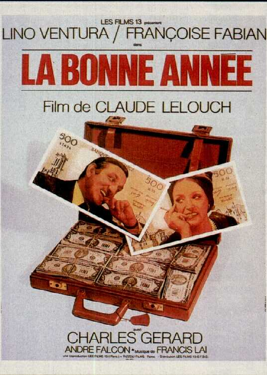 "poster for ""Bonne Ann�e, La"" by Claude Lelouch (1973)"