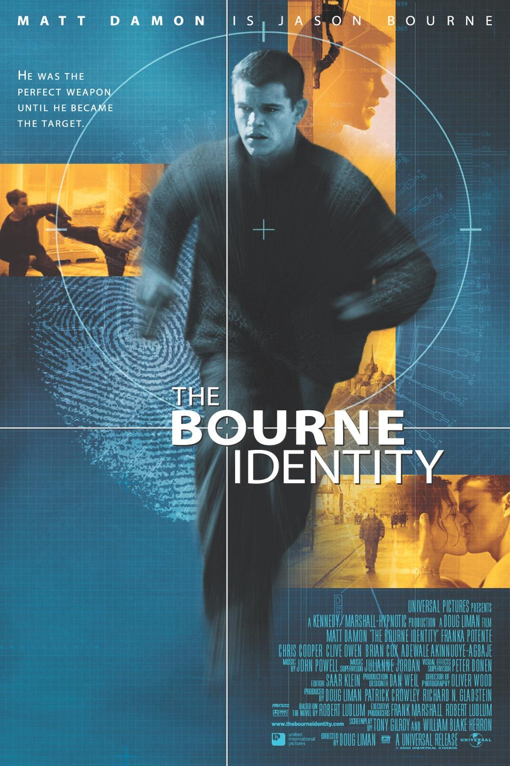 "poster for ""Bourne Identity, The"" by Doug Liman(2002)"