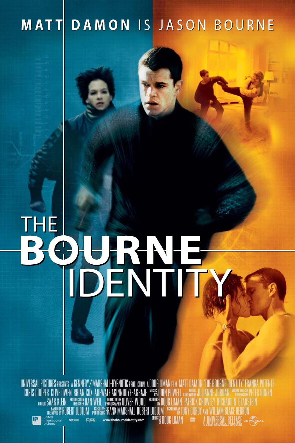 "poster for ""Bourne Identity, The&quot"