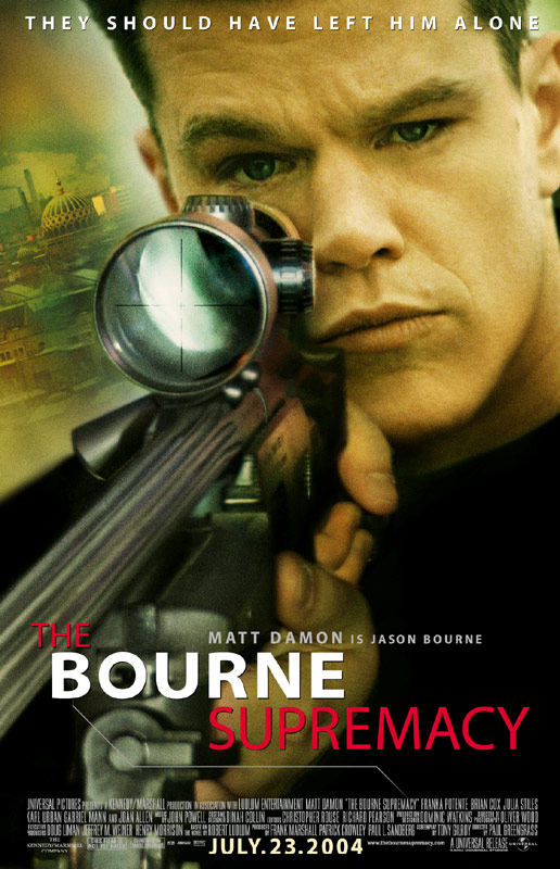 "poster for ""Bourne Supremacy, The"" by Paul Greengrass(2004)"