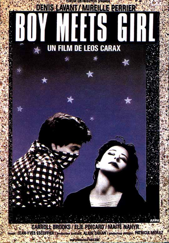 "poster for ""Boy Meets Girl"" by Leos Carax(1984)"