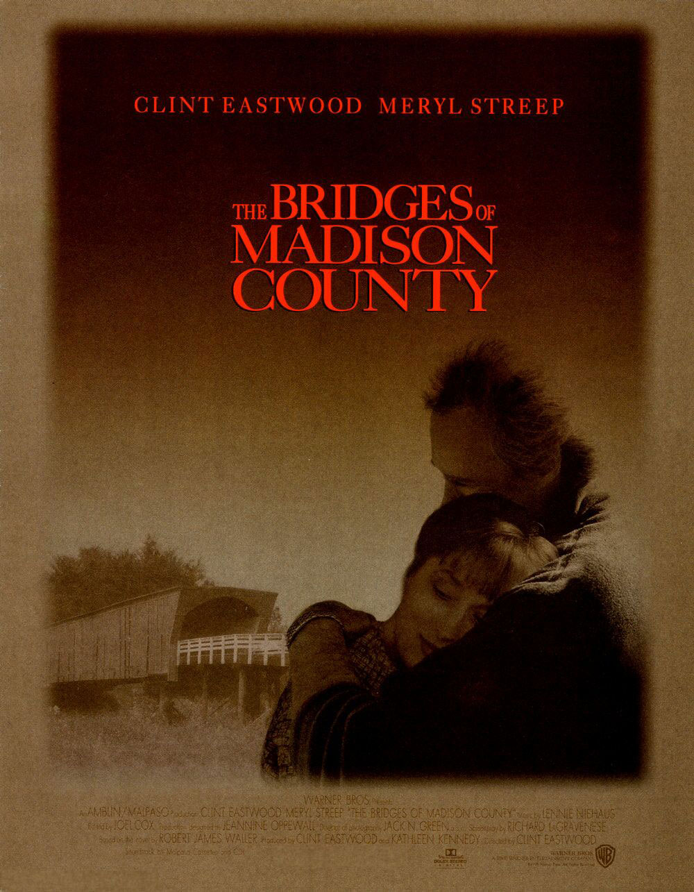 "poster for ""Bridges Of Madison County"" by Clint Eastwood (1995)"