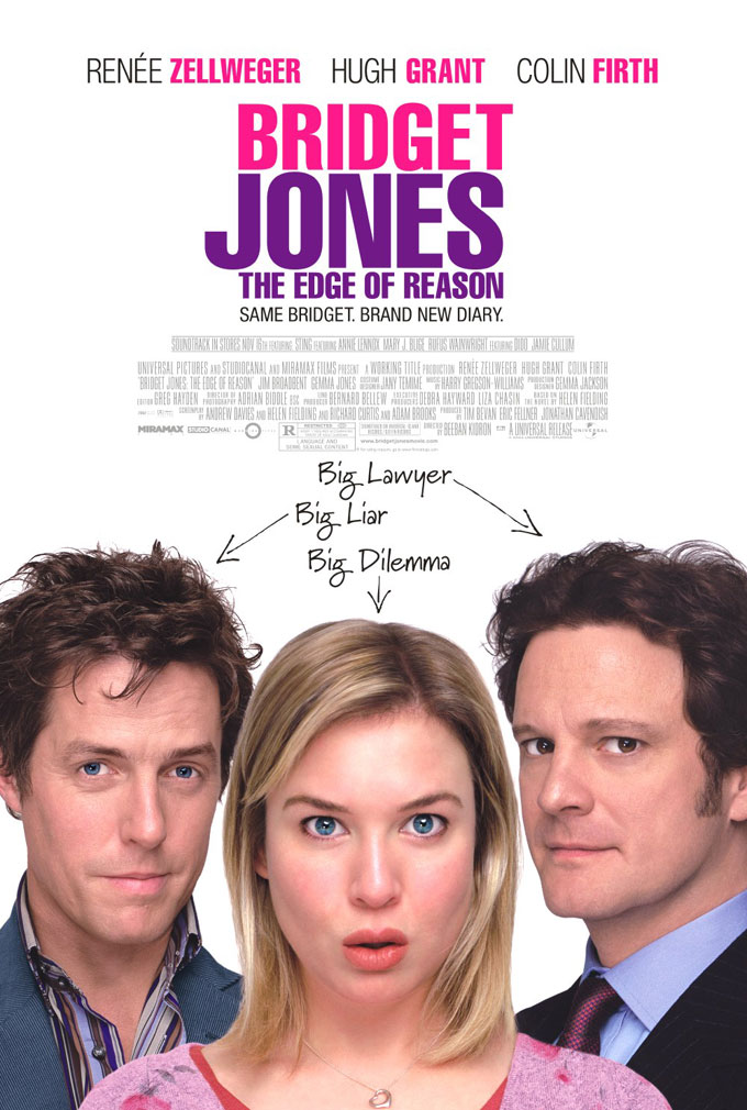 "poster for ""Bridget Jones 2: The Edge Of Reason"" by Beeban Kidron(2004)"