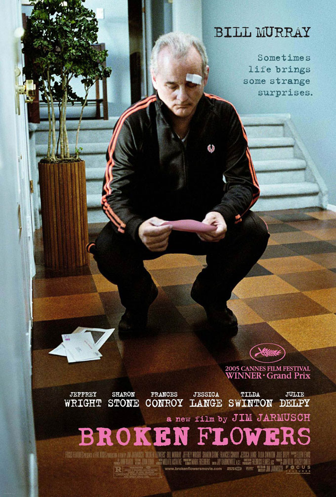 "poster for ""Broken Flowers"" by Jim Jarmusch(2005)"