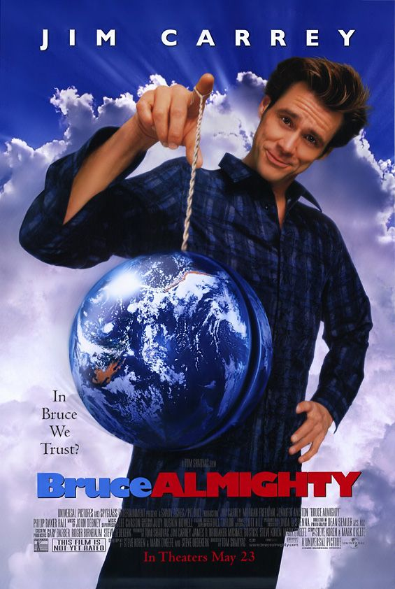 "poster for ""Bruce Almighty"" by Tom Shadyac (2003)"