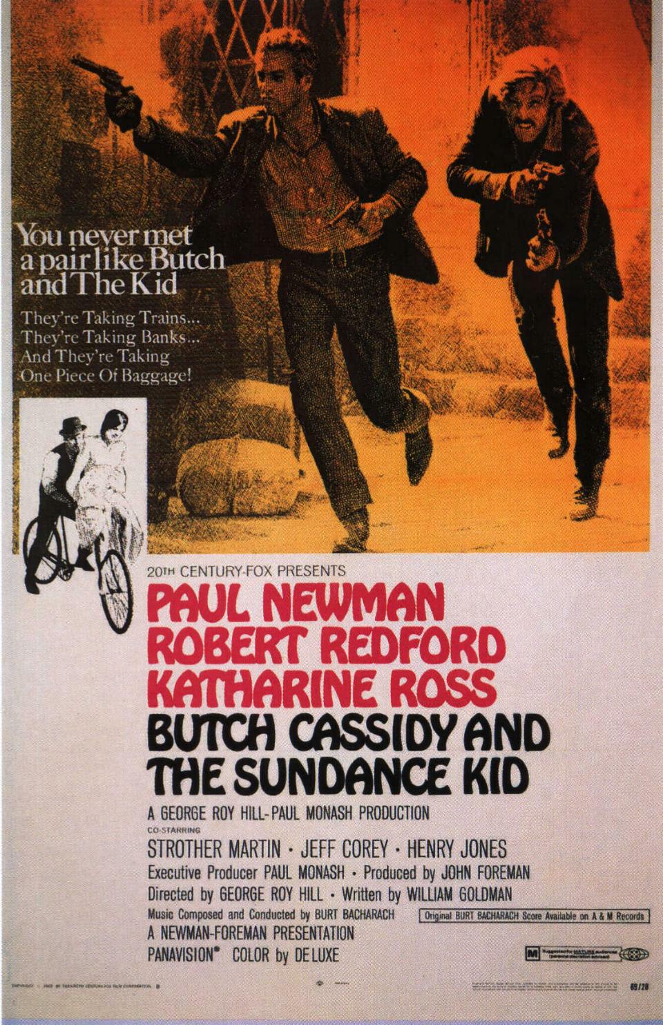 "poster for ""Butch Cassidy and the Sundance Kid"" by George Roy Hill(1969)"