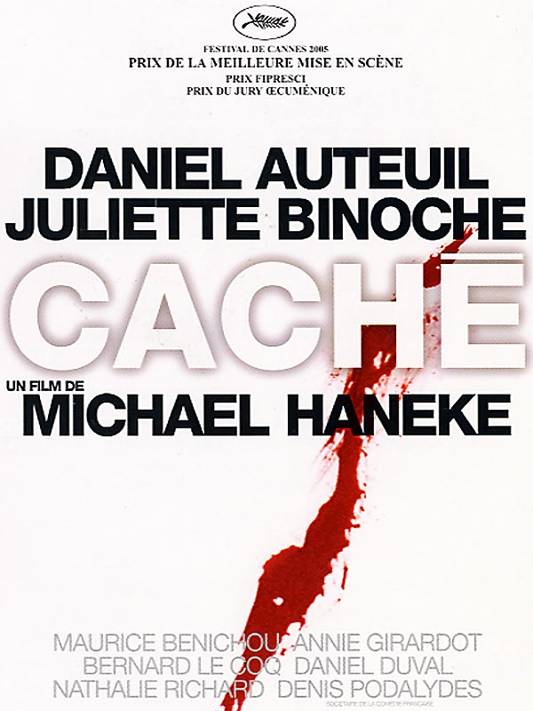 "poster for ""Cach�"" by Michael Haneke (2005)"
