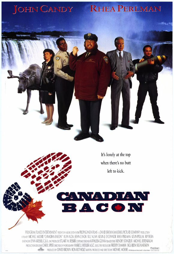 "poster for ""Canadian Bacon"" by Michael Moore(1995)"