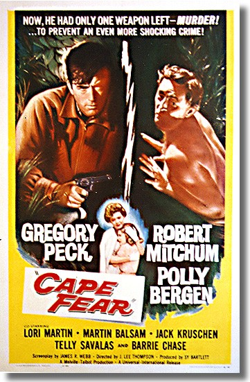 "poster for ""Cape Fear"" by J. Lee Thompson(1962)"
