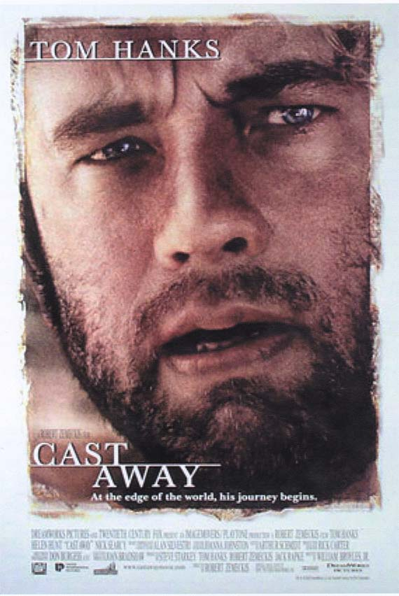 "poster for ""Cast away"" by Robert Zemeckis (2000)"