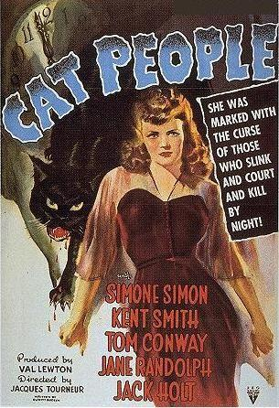 "poster for ""Cat People"" by Jacques Tourneur (1942)"