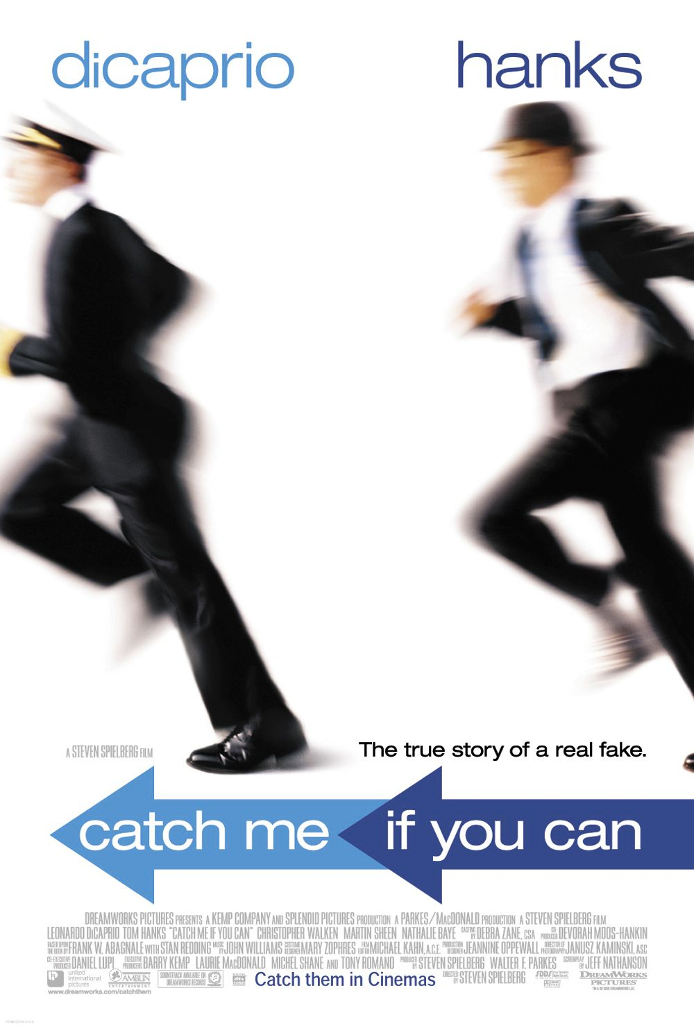 "poster for ""Catch Me If You Can"" by Steven Spielberg(2002)"