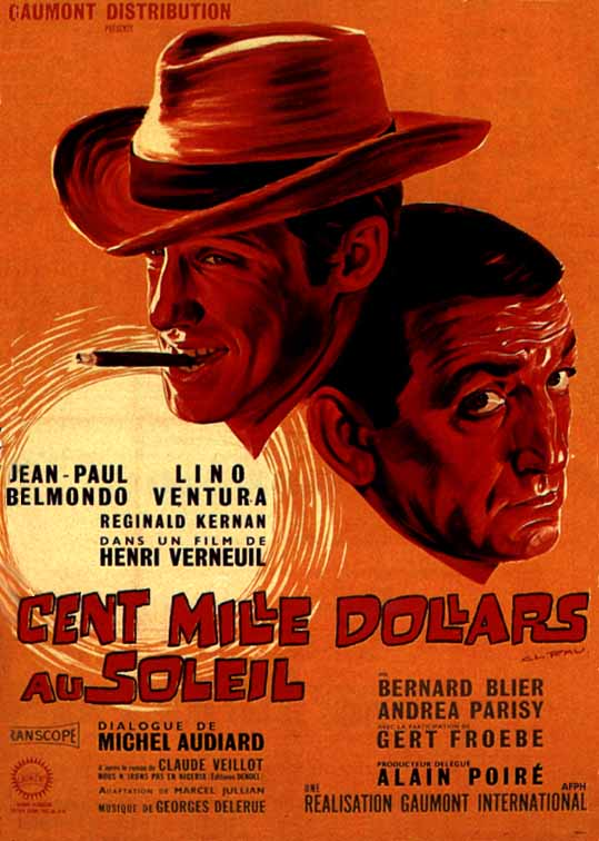 "poster for ""Cent Mille Dollars au Soleil"" by Henri Verneuil(1964)"