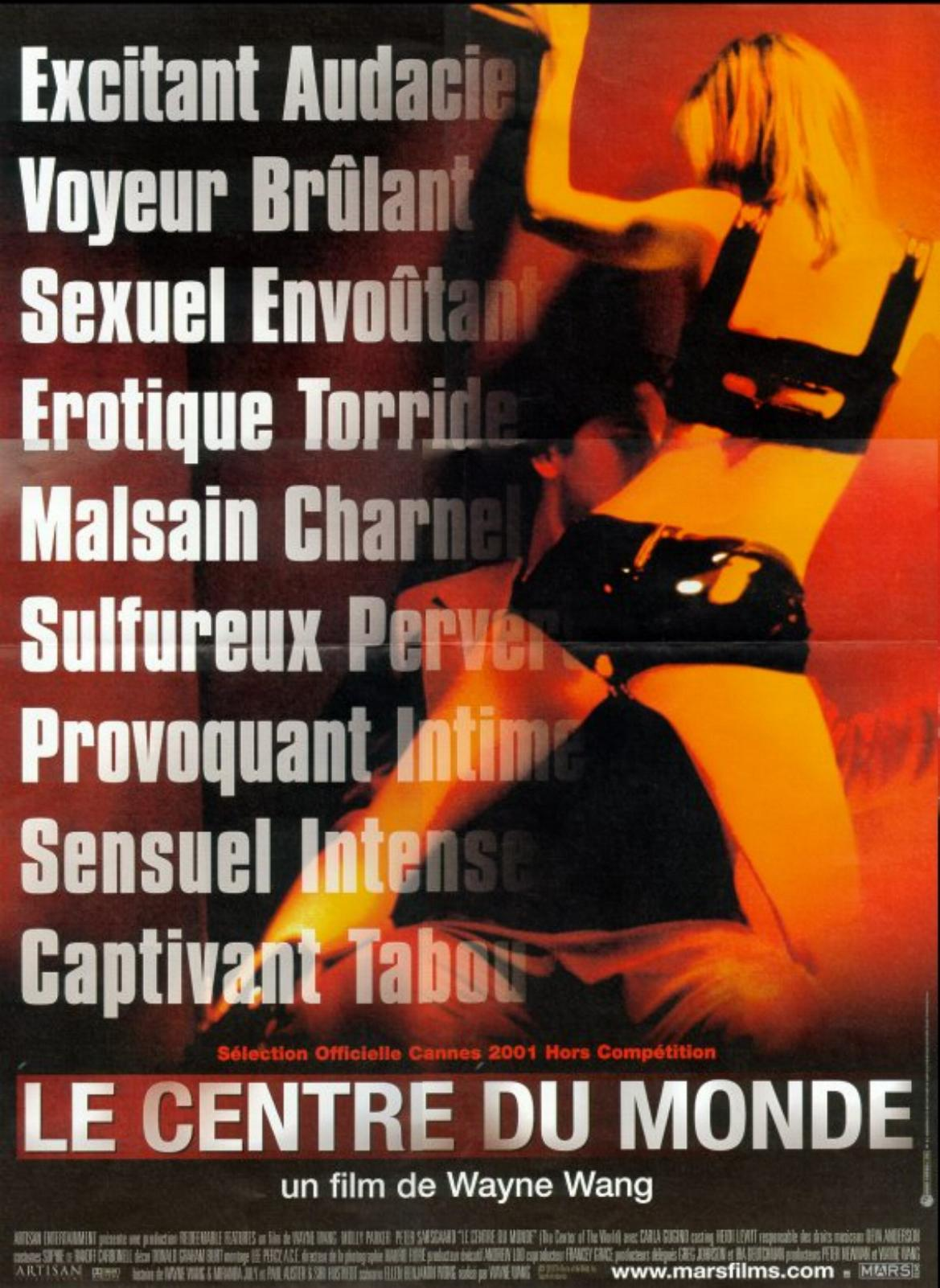 "poster for ""Center of the world, The"" by Wayne Wang(2001)"