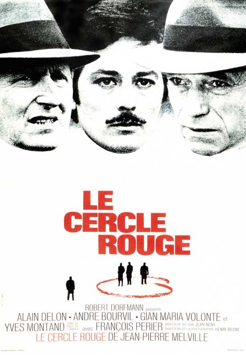 "poster for ""Cercle Rouge, Le"" by Jean-Pierre Melville (1970)"