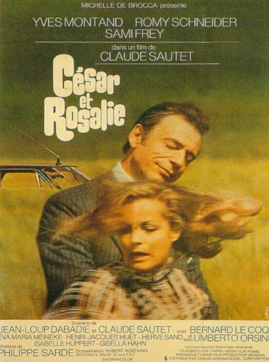 "poster for ""C�sar et Rosalie"" by Claude Sautet(1972)"