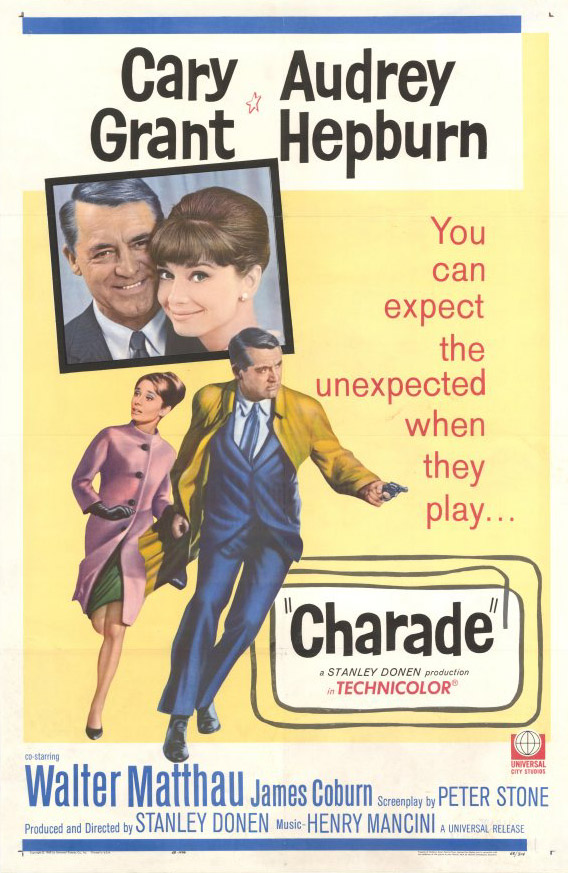 "poster for ""Charade"" by Stanley Donen(1963)"