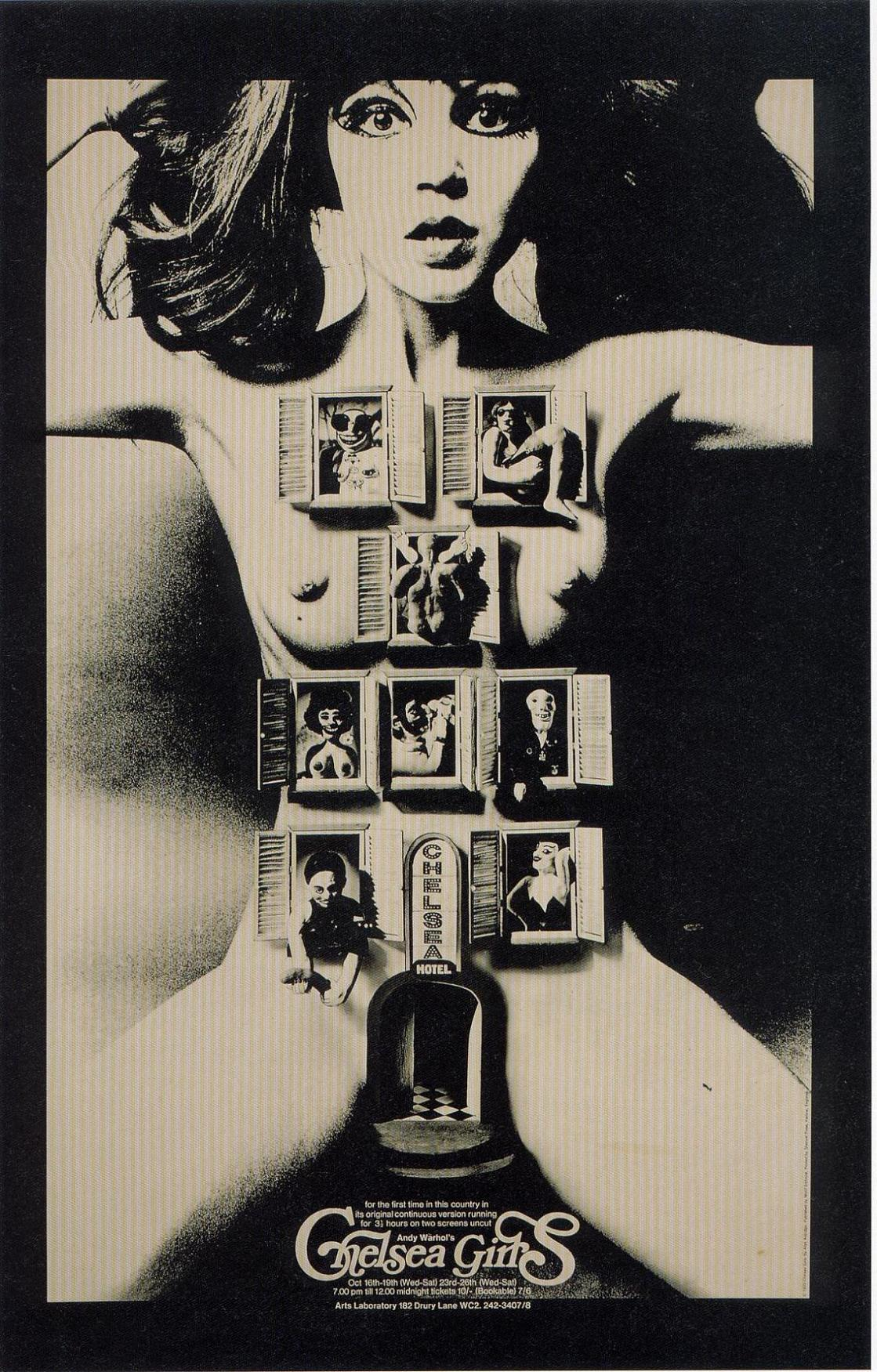 "poster for ""Chelsea Girls"" by Paul Morrissey 