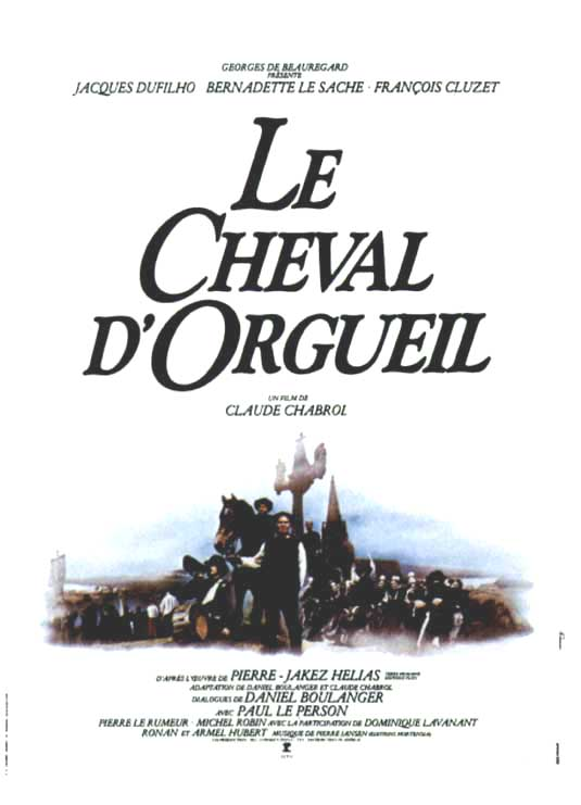 "poster for ""Cheval d'Orgueil, Le"" by Claude Chabrol(1980)"