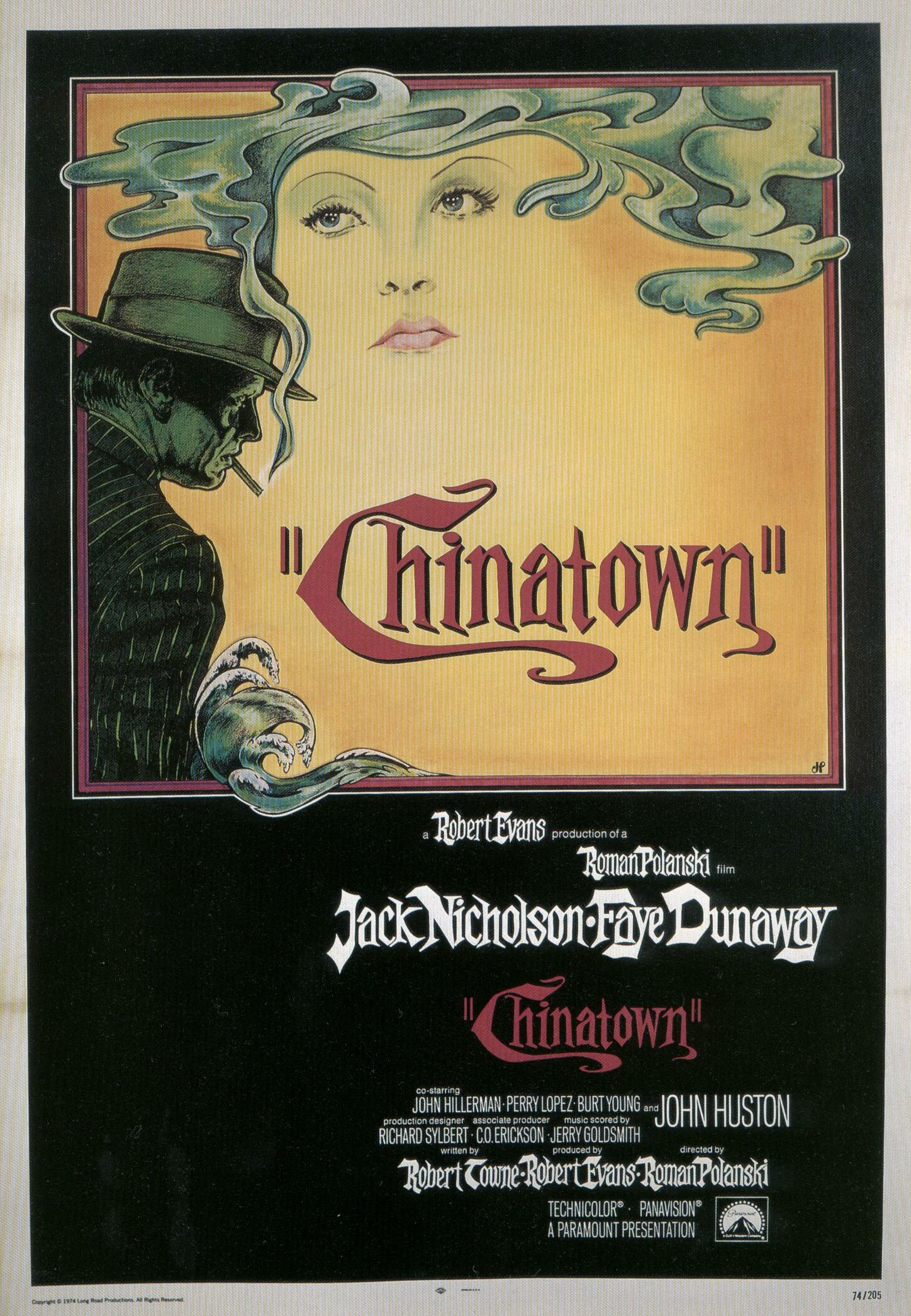 "poster for ""Chinatown"" by Roman Polanski(1974)"