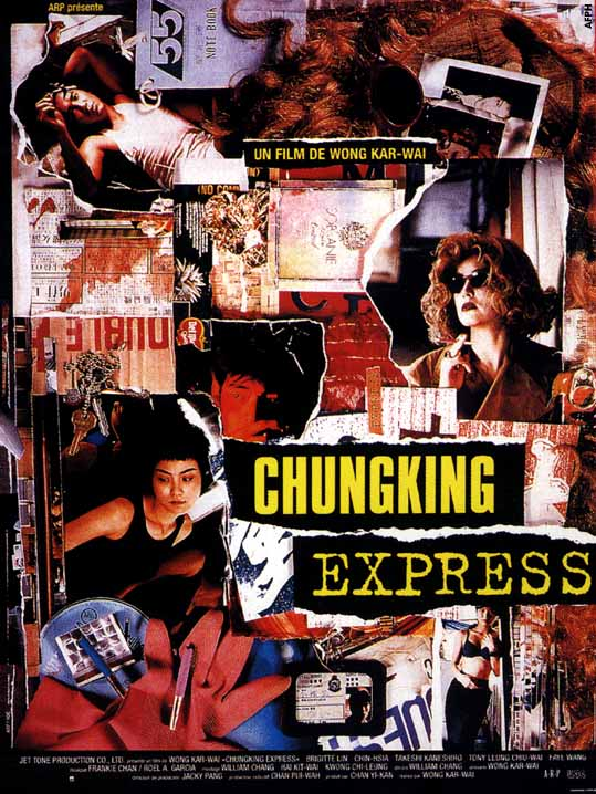 "poster for ""Chong Qing Sen Lin (Chungking Express)"" by Kar-wai Wong(1994)"