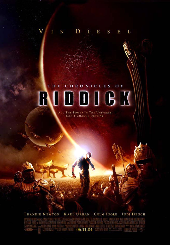 "poster for ""Chronicles of Riddick, The"" by David Twohy (2004)"