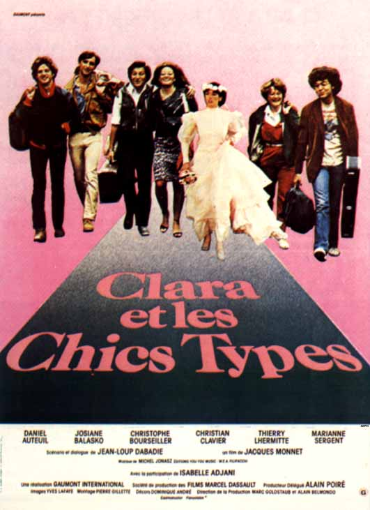 "poster for ""Clara et les chics types"" by Jacques Monnet (1980)"