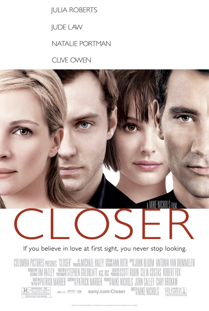 "poster for ""Closer"" by Mike Nichols (2004)"
