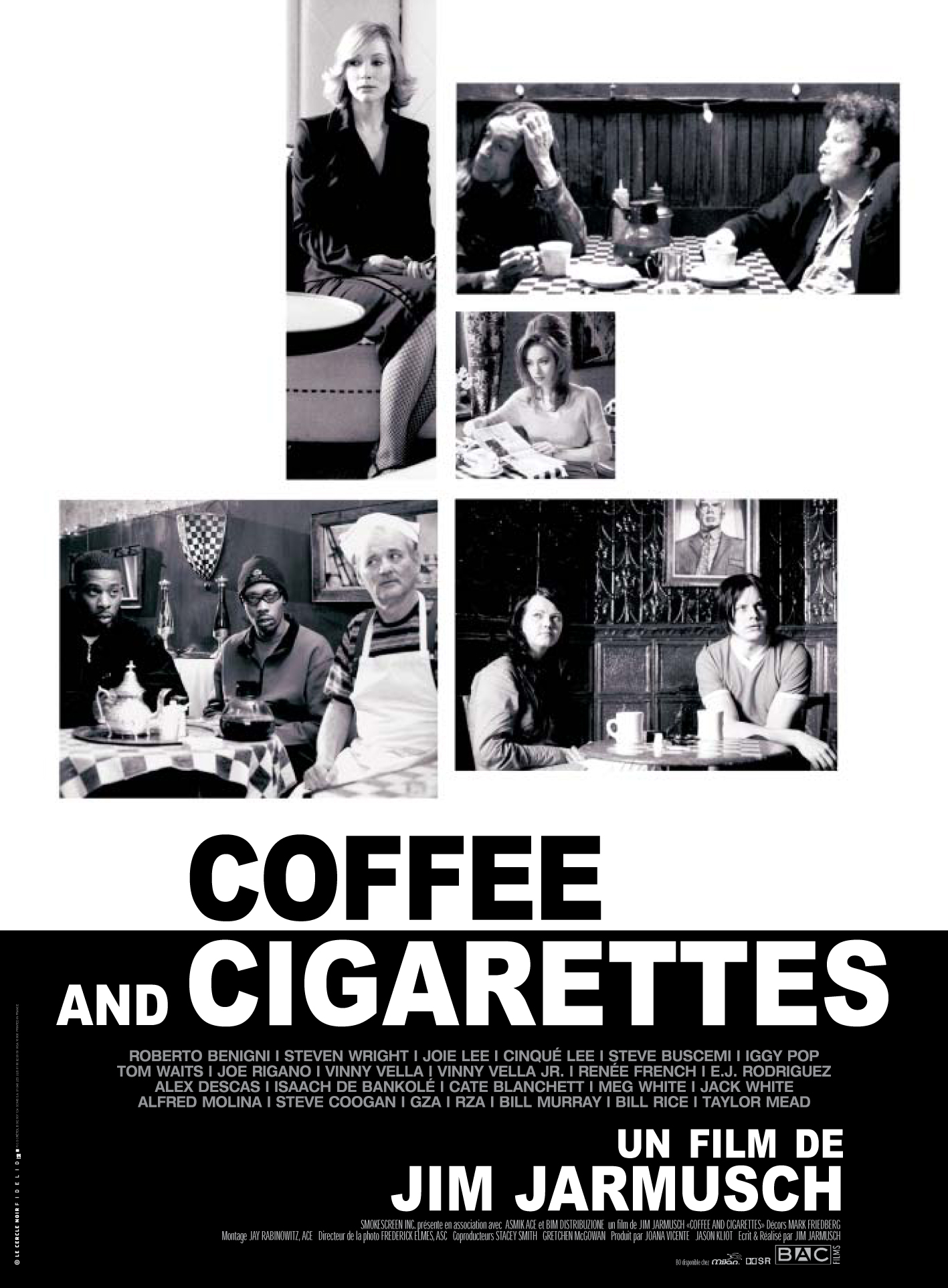 "poster for ""Coffee and Cigarettes I"" by Jim Jarmusch(1986)"
