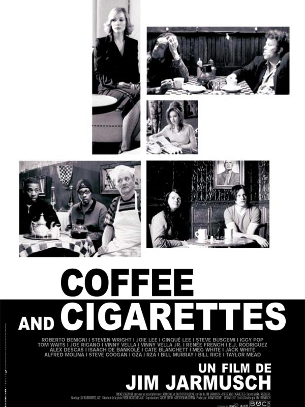 "poster for ""Coffee and Cigarettes II"" by Jim Jarmusch(1989)"